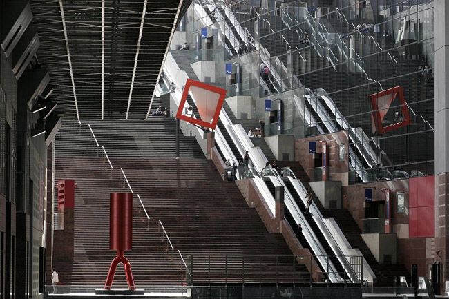 The architecture of Kyoto station