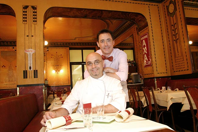 Le Moissonnier, Fancy French restaurant in Cologne.<BR>Client: Prinz magazine