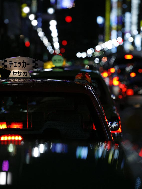 Tokyo, Ginza taxis. Street photography