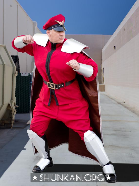 Ian's cosplay as M. Bison aka Dictator (Street Fighter), San Diego Comic-Con