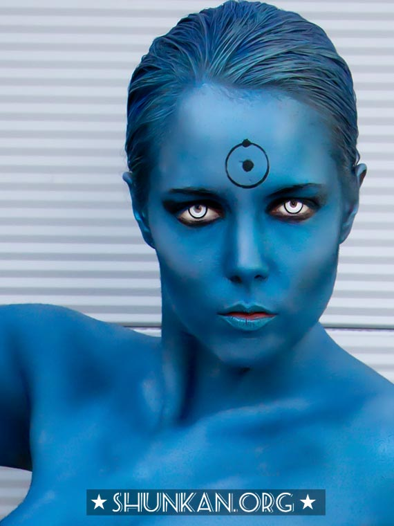 Toni Darling as female Dr. Manhattan, San Diego Comic-Con
